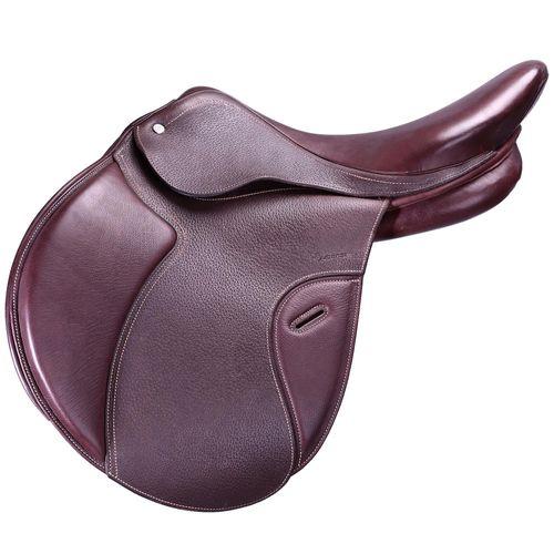 Sela Polivalente Equitação Couro Arção Ajustável Cavalo PADDOCK 17,5