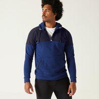 Hoody-sweat-500-half-zip-blue-gg