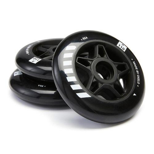 3 rodas patins 110 mm/86 Branco - 3w 110mm/86a, no size