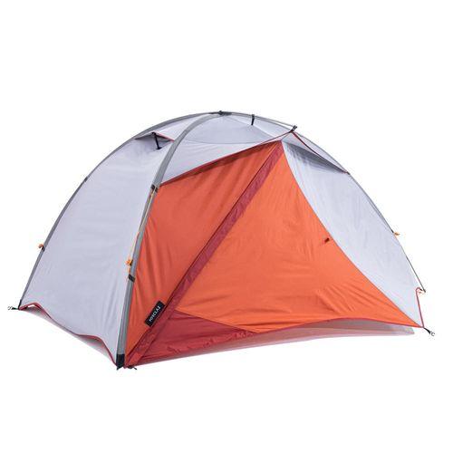 Tenda-cupula-de-trekking-autoportante-3-estacoes---TREK-500-cinza-laranja-2-pess