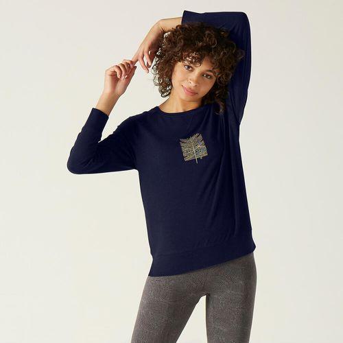 T-shirt-500-ls-gym-women-print-3xl-Azul-marinho-escuro-3G