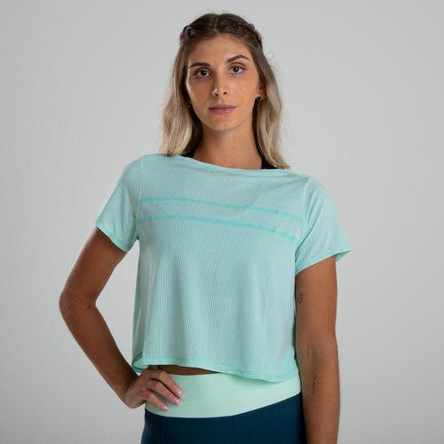 Camiseta de poliéster feminina Fitness Cardio Cropped 120 OI20