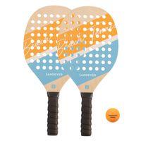 Set-beach-tennis-experience-vermelho-tam-unico-Amarelo-UNICO