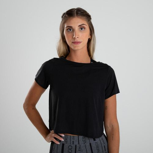 Camiseta Cropped de poliester Feminina de Treino Cardio 120