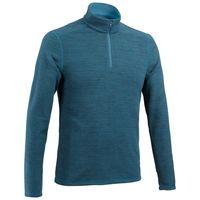Blusa-Fleece-masculina-de-trilha-MH100-azul-cinza-G