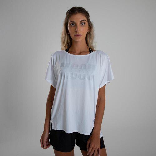 Camiseta de poliéster feminina Fitness Loose 120