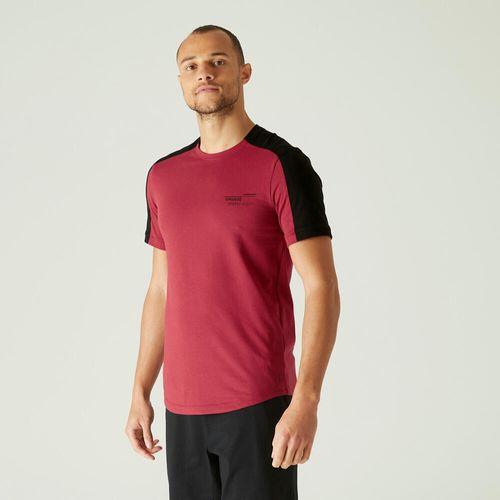 T-shirt-gym-m-520-slim-bordeaux-print
