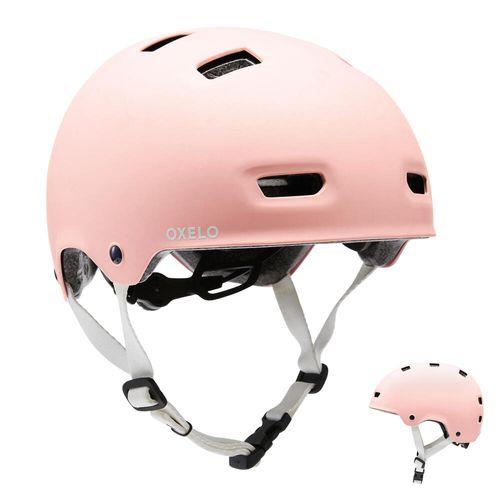 Capacete-para-Patins-Skate-patinete-Bicicleta-MF500-rosa-55-59CM