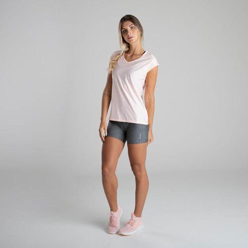 Camiseta de Poliéster feminina Fitness Cardio Respi 100