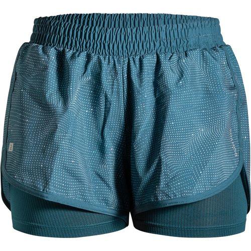 Shorts de poliéster feminino de Treino Cardio 2EM1 120