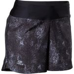 Short-feminino-de-corrida-run-dry-granite-black-G
