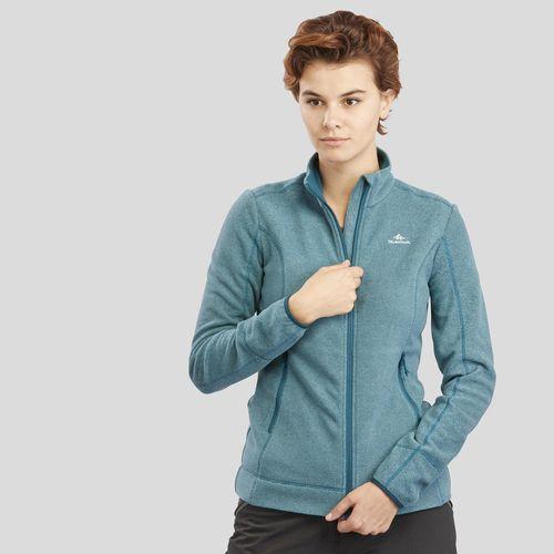 Blusa-Fleece-Feminina-com-Ziper-MH120-azul-turquesa-P