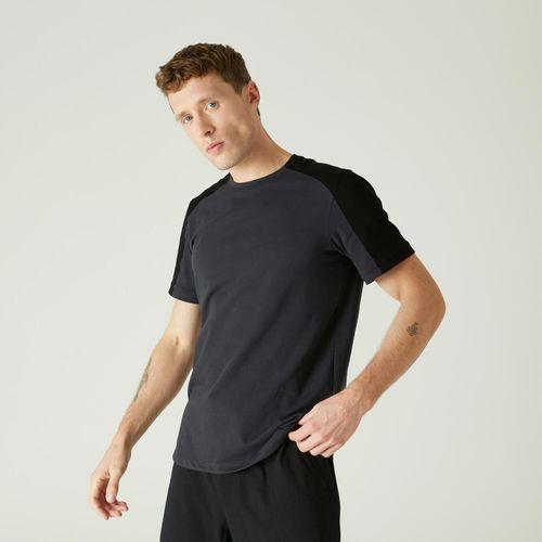 T-shirt-gym-m-520-regular-khaki-prin-gg-Cinza-mescla-4G