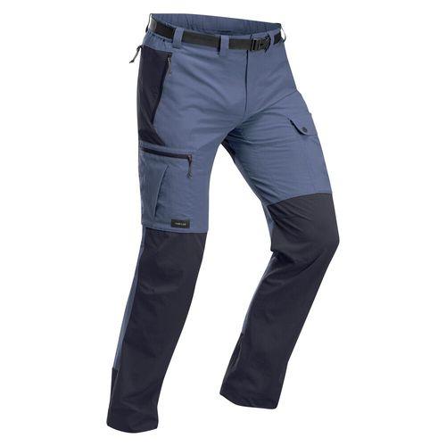 Calca-masculina-de-trekking-TREK-500-azul-38