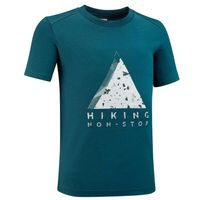 Camiseta--infantil-de-caminhada-MH100-petroleo-escuro-12-13-ANOS
