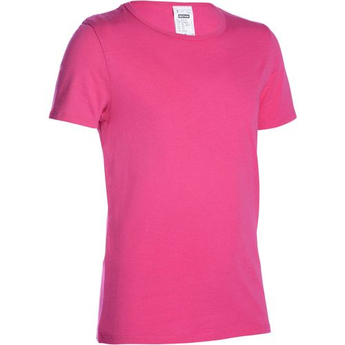 Camiseta infantil feminina para Ginástica Domyos - decathlonstore 0a374e7b1fc