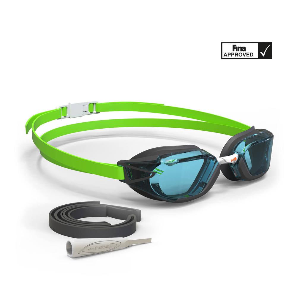Óculos de Natação B-FAST tamanho único Nabaiji - B-FAST BLACK GREEN CLEAR,  UNIQUE. Óculos de Natação B-FAST tamanho único Nabaiji d3290e67d9