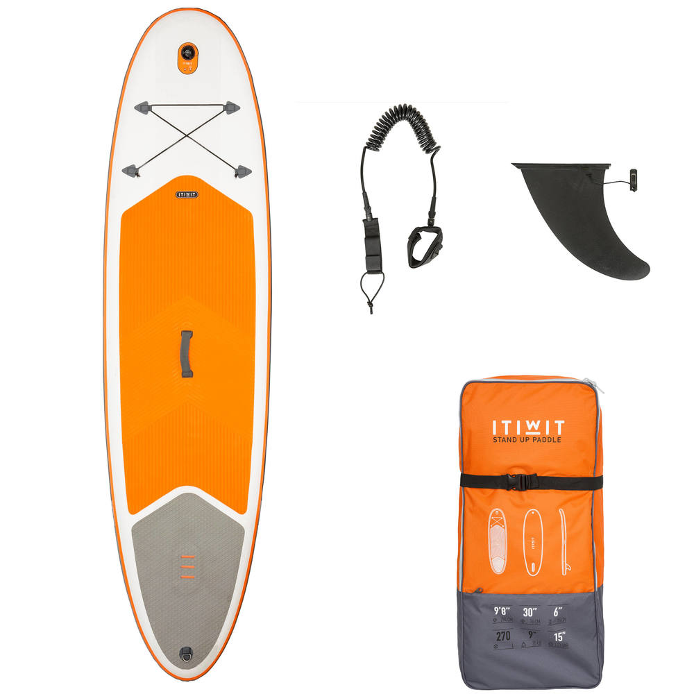 9b28a4029 Prancha de Stand Up Paddle Inflável 9´8 Itiwit - SUP INFLATABLE XWS 9 8    ORANG