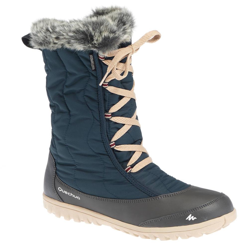 f9d3d267fa5 Bota feminina de trilha na neve impermeável SH500. Bota feminina de trilha  na neve impermeável SH500