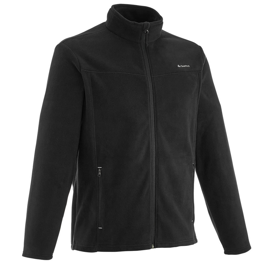 Blusa fleece masculina de trilha Forclaz 200 - FLEECE FORCLAZ 200 BLACK dd3636f154555