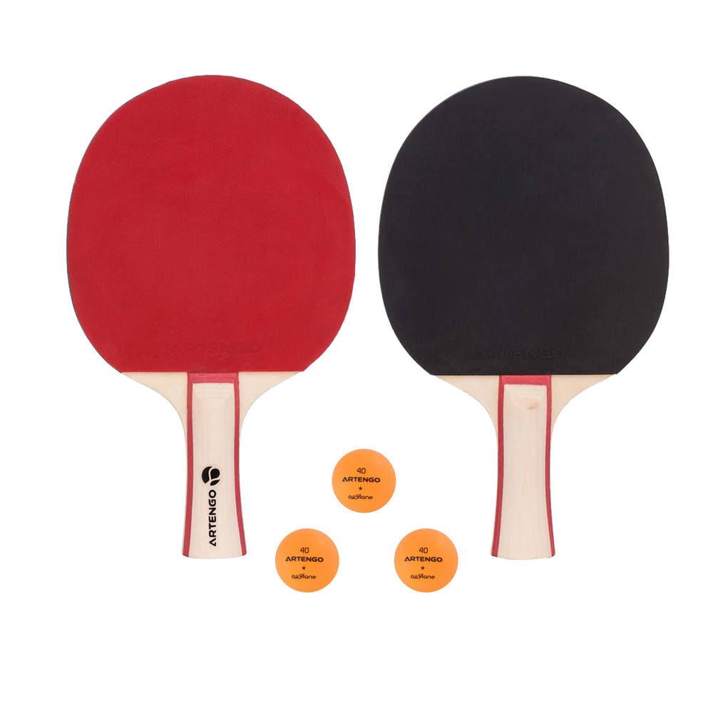 aa0768599 Kit raquetes de tênis de mesa Artengo FR130   (2 raquetes + 3 bolas) -  ARTENGO SET FR 730 X 2