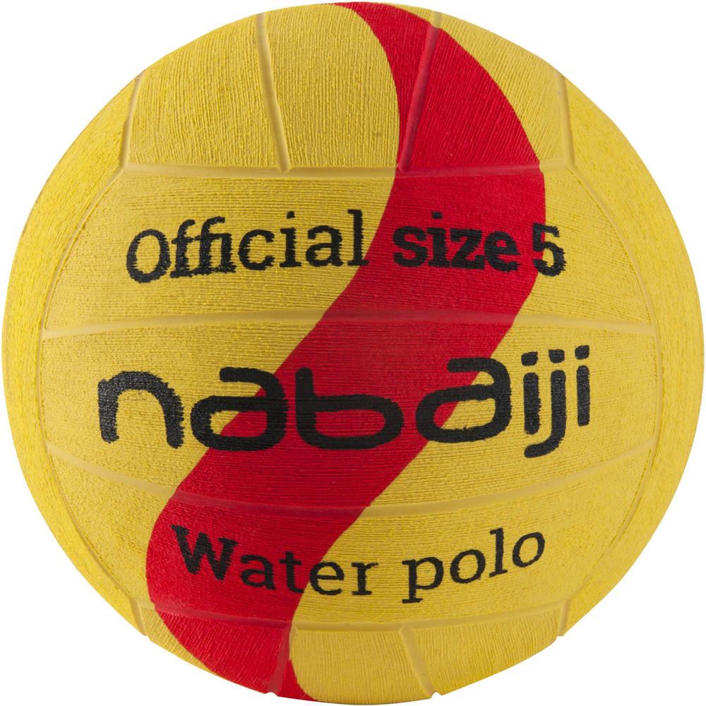 b1473b81e Bola de polo aquático tamanho 5 nabaiji - WATERPOLO BALL T5 YELLOW RED
