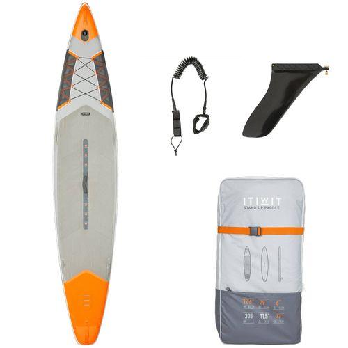 4ef76dbda Prancha de stand up paddle inflável 12´6 29 Itiwit - INFLA SUP SX 12 6-29  ORANGE