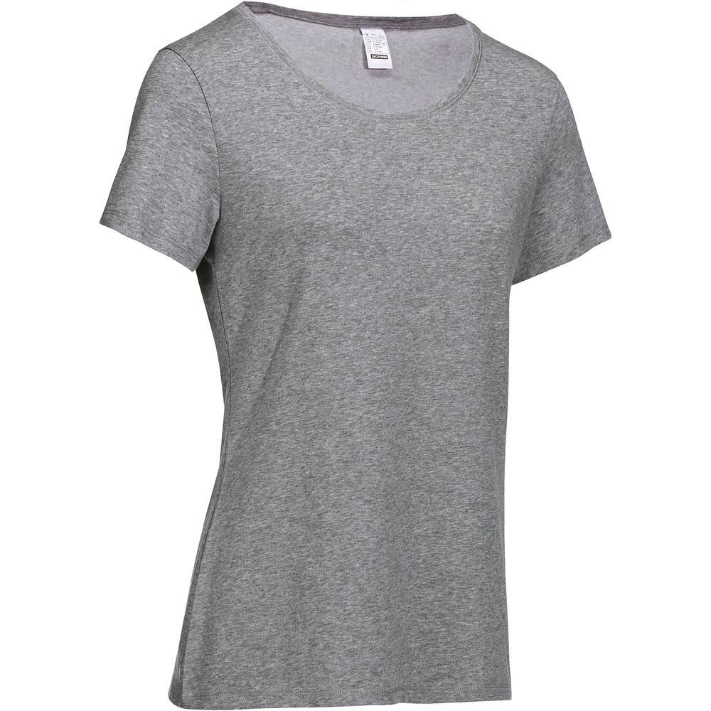 a939cb2cd Camiseta Regular de Ginástica e Pilates Feminina Domyos. Camiseta Regular  de Ginástica e Pilates Feminina Domyos
