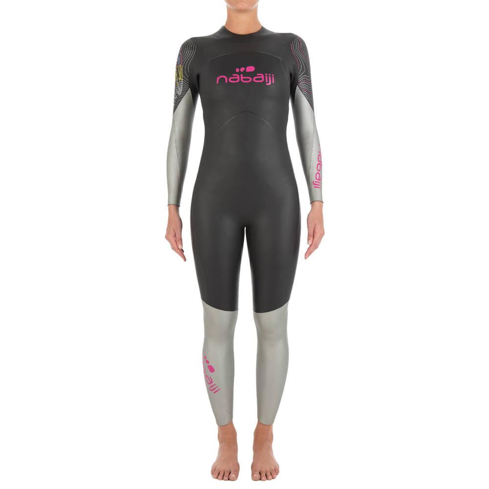 b86daec3e Roupa neoprene para natação em águas abertas 500 4 3mm Feminino Nabaiji. Roupa  neoprene para natação em águas abertas 500 4 3mm Feminino Nabaiji