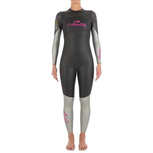 1b205e923 Roupa neoprene para natação em águas abertas 500 4 3mm Feminino Nabaiji