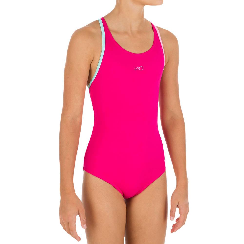 Maiô de natação Leony infantil - 1PG LEONY + GIRL PINK  e24a62b5873ed