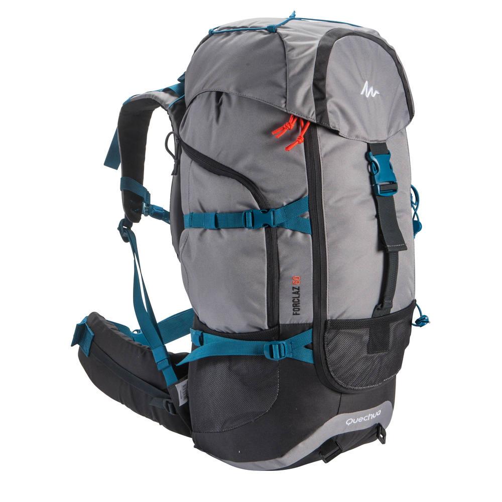 bd7c96410 Mochila de Trekking Forclaz 50 litros - BACKPACK FORCLAZ 50 GREY