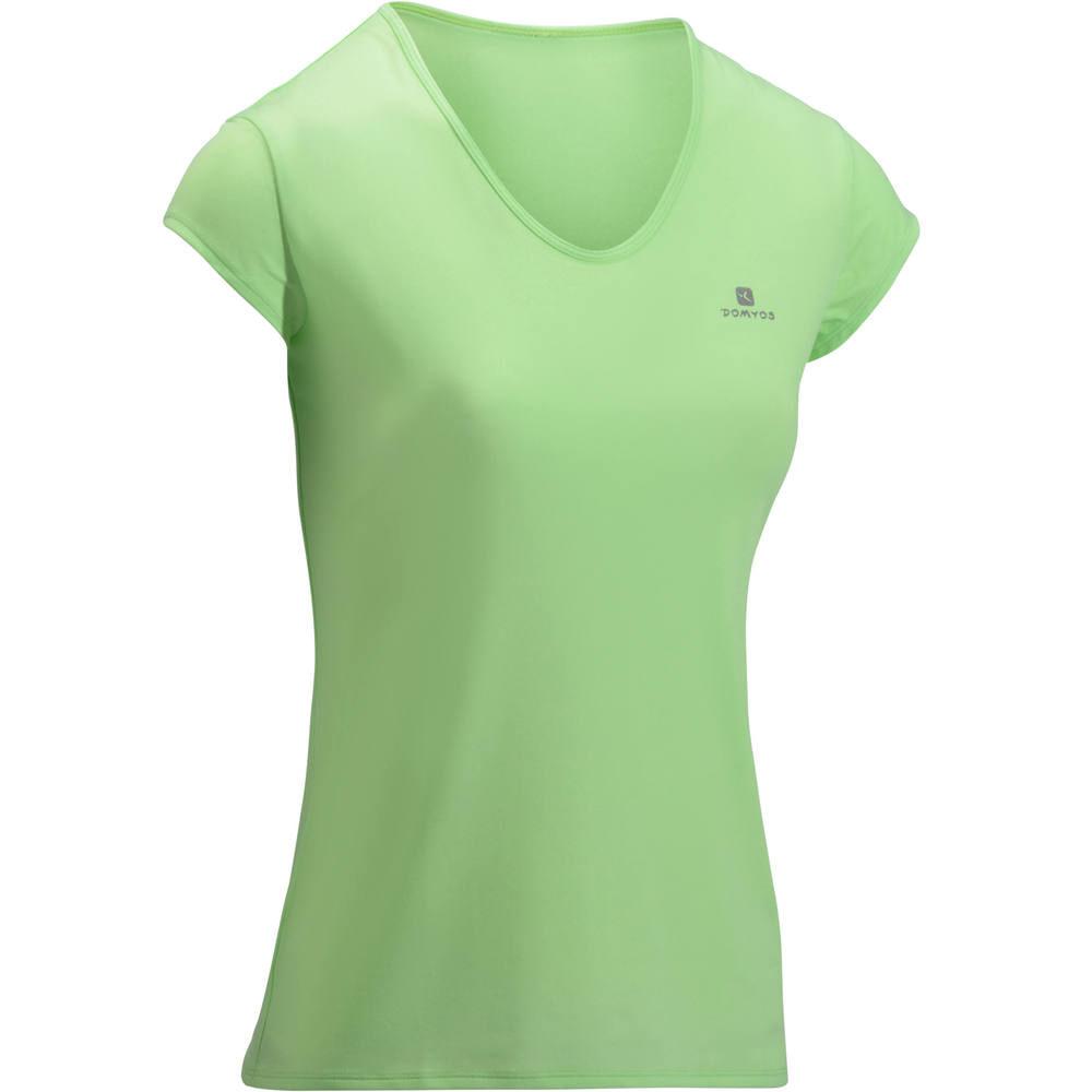 9ebe60999ea70 Camiseta Fitness Cardio feminina 100 Domyos. Camiseta Fitness Cardio  feminina 100 Domyos