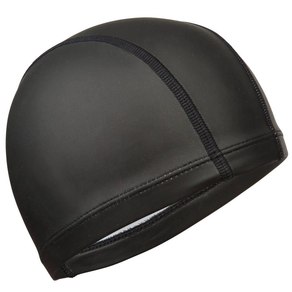 1ca2783a9f2c3 Touca de natação em malha revestida em silicone infantil Nabaiji - MESH  SILICONE CAP SOLID BLACK