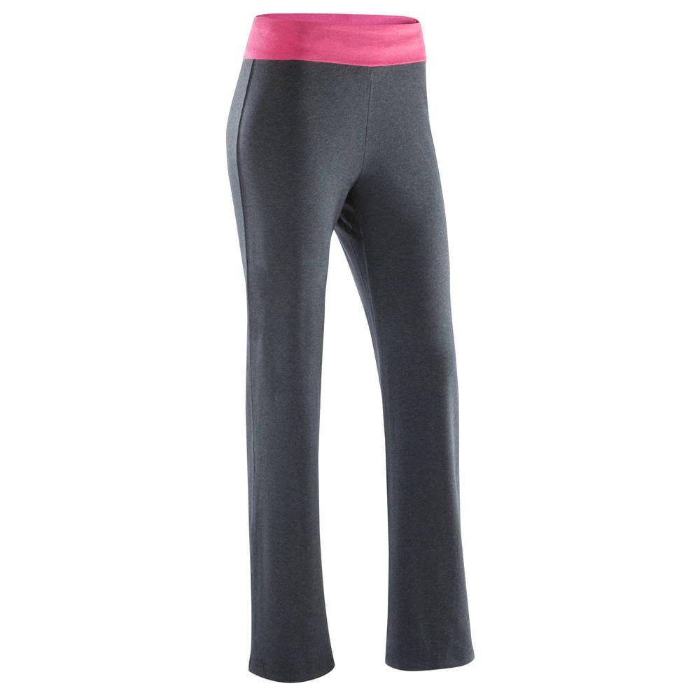 d821c0c310a999 Calça Feminino de Yoga com algodão biológico Domyos