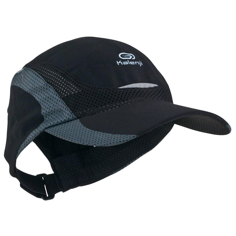 Boné para corrida Kalenji - RUN CAP 18 BLACK e8b0216a2d3