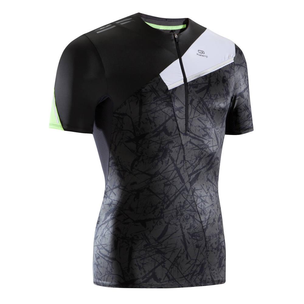 1c59aad0c Camiseta masculina de corrida Trail Running Kalenji - TS SS PERF TRAIL M  DARK GREY GRAPH
