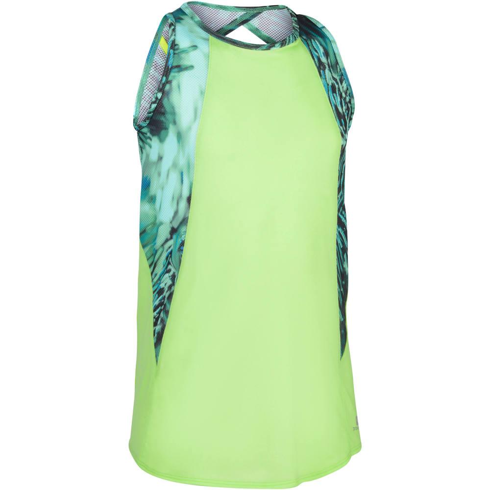 e41f725c1576f Camiseta Regata Infantil Feminina Domyos - TANK 960 GYM GREEN