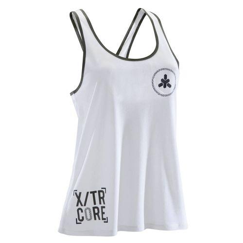 Regata Feminina Fitness Branca - Linha 500 - Domyos - decathlonstore 1c75446c69a