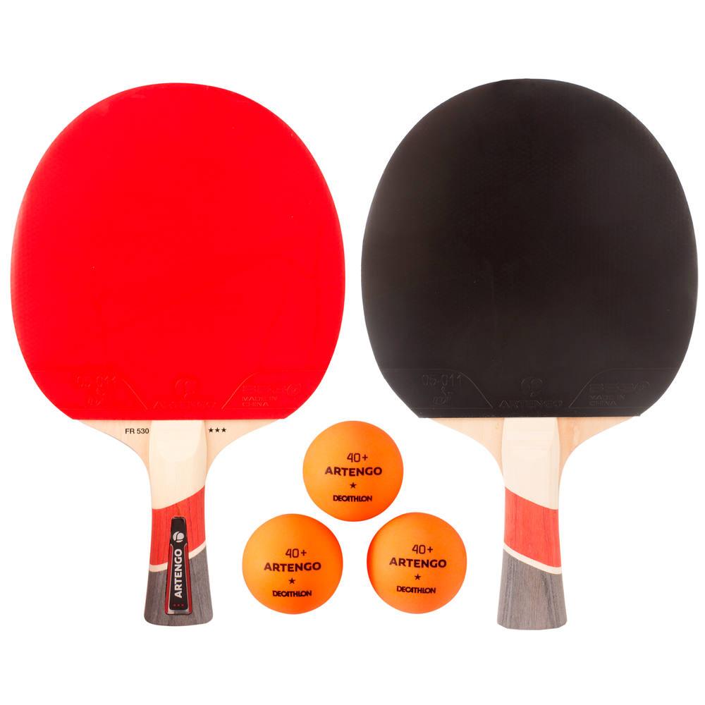 67e399ecb Kit de Tênis de Mesa FR 530 Artengo (2 raquetes + 3 bolas) - Decathlon