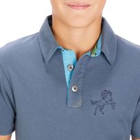 bc7300407 Camisa Polo para Hipismo de manga curta PL140 Infantil - decathlonpro