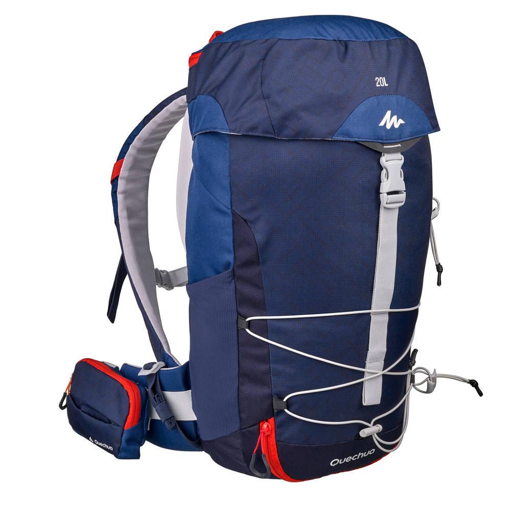 8904182bc Mochila de trilha MH100 20 L Quechua - BACKPACK MH100 20L BLUE