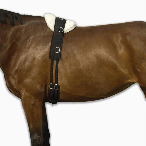 72351526f Cilhão de Trabalho Hipismo Cavalo e Pónei Preto Fouganza - TRAINING ROLLER