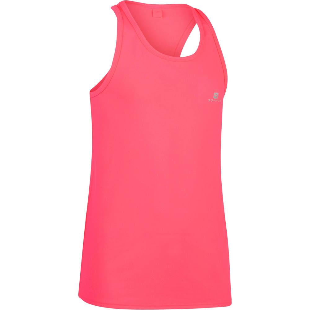 67d8f0caee Camiseta Regata infantil feminina para ginástica Domyos - TTANK 560 GYM  PINK