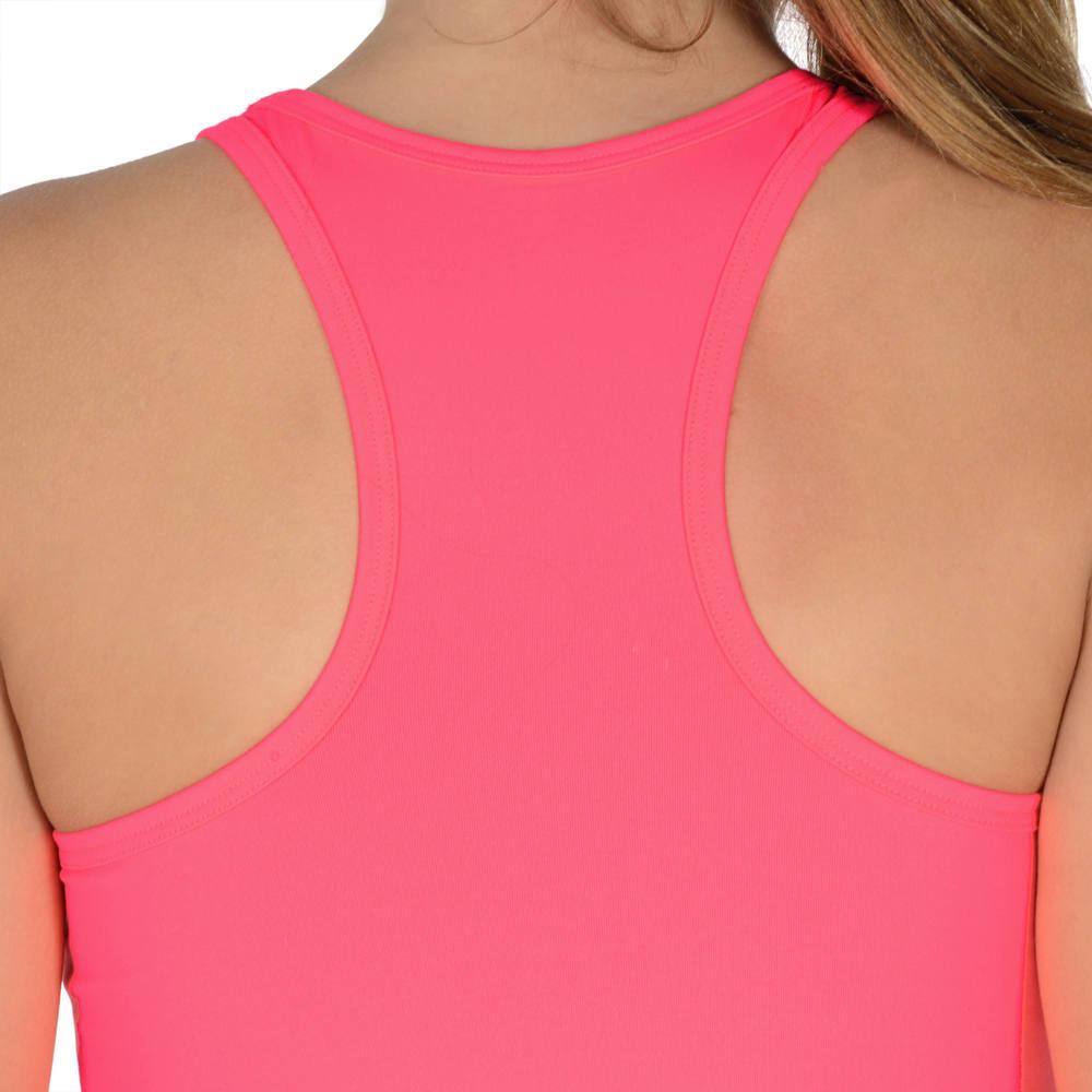 Camiseta Regata infantil feminina para ginástica Domyos - TTANK 560 GYM  PINK e4d64f7fa92