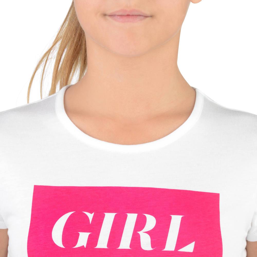 a904e70e46 Camiseta Infantil Feminina de Ginástica Domyos - decathlonstore