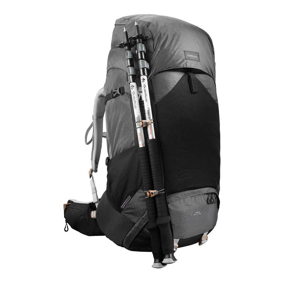 b02cbf678 Mochila feminina de trekking Trek700 70 litros + 10 litros - BACKPACK TREK  700 70+10 W BLACK
