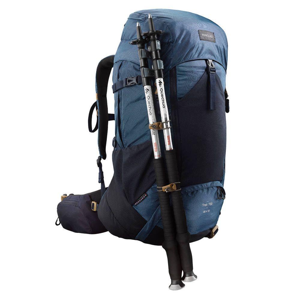 815b0187f Mochila masculina de trekking Trek700 50 litros + 10 litros - BACKPACK TREK  700 50+10 M BLUE