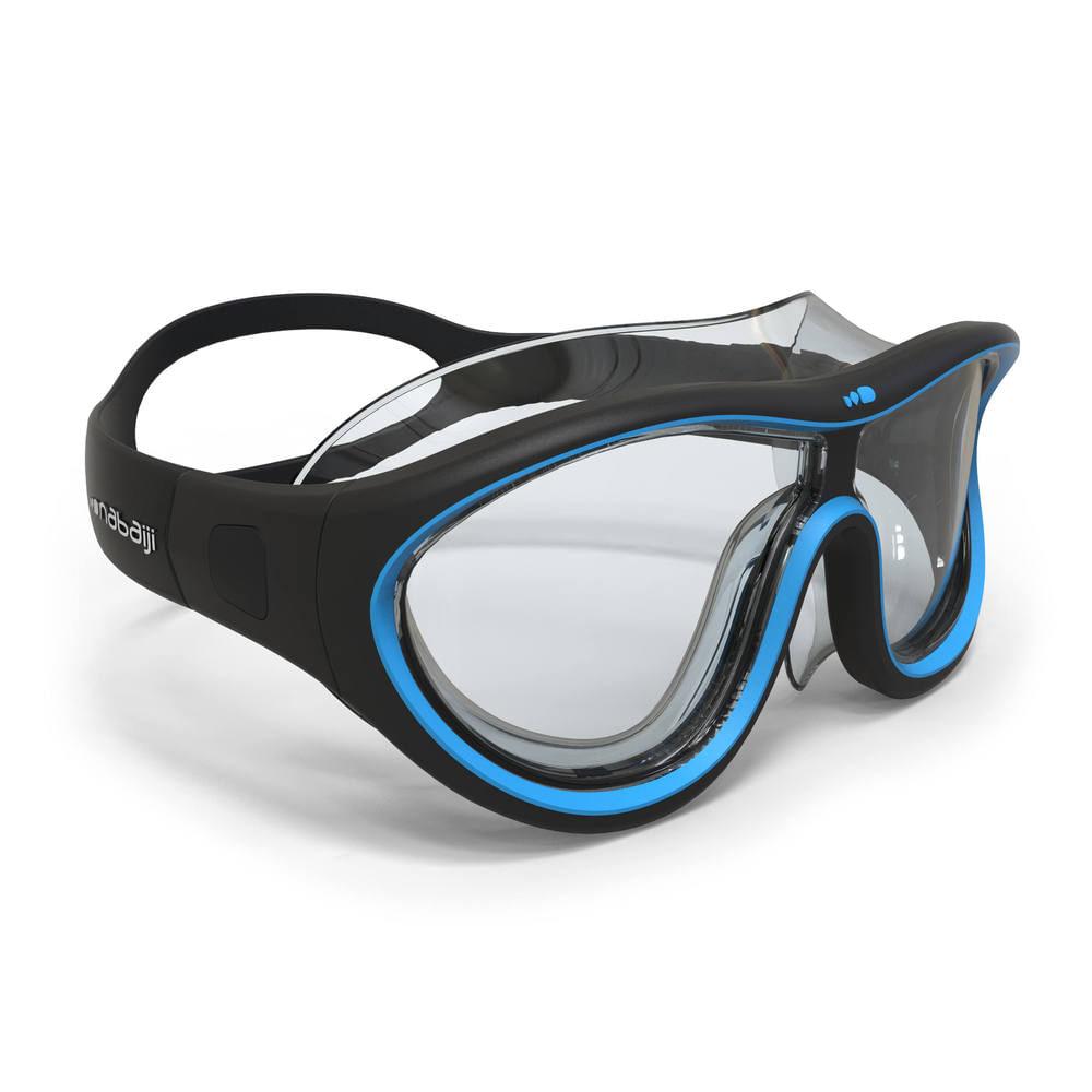14b380af759af Máscara de Natação Tamanho grande - SWIMDOW 100 L BLACK BLUE, L. Máscara de  Natação Tamanho grande