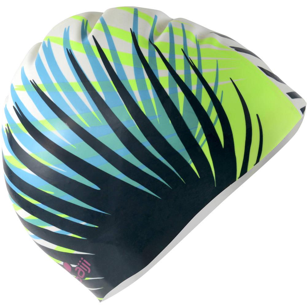 Touca de natação em silicone nabaiji - SILICONE 950 VOLUME JUN WHITE f39ca264225